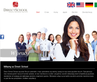 Strona internetowa Direct School